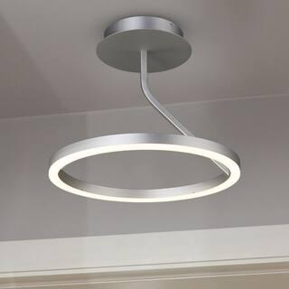 Semi flush mount ceiling lights for less sale ends in 2 days overstock vonn lighting vmc32000al zuben 18 inch led orbicular ceiling fixture in silver aloadofball Images