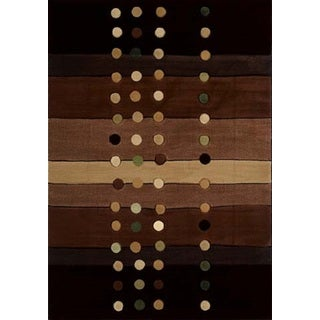 "Contours Cascades Chocolate Area Rug (7'10"" X 10'6"") - 7'10 x 10'6"