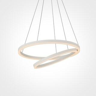 VONN Lighting VMC31740SW Tania Duo 24-inch LED Modern Circular Chandelier in White