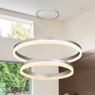 Strick & Bolton Herzig 2-tier Circular LED Chandelier
