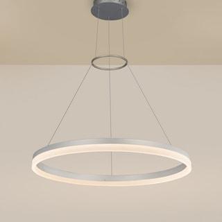 VONN Lighting Tania Duo 37W LED Satin Nickel Orbicular Chandelier