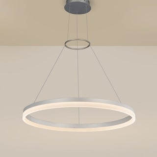 VONN Lighting VMC31650AL Tania 24-inch LED Modern Circular Chandelier in Silver