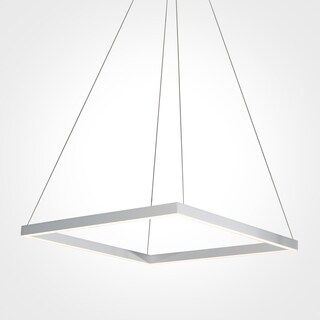 VONN Lighting VMC31620AL Atria 20-inch LED Modern Square Chandelier in Silver