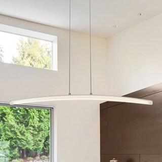 vonn lighting haeidi 32inch led chandelier adjustable suspension fixture modern linear chandelier
