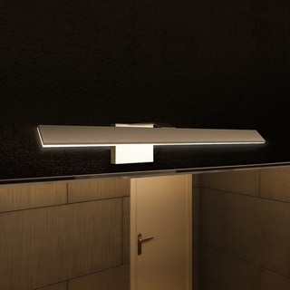 VONN Lighting VMW11400AL Wezen 21-inch LED Satin Nickel Indirect Bathroom Lighting Fixture