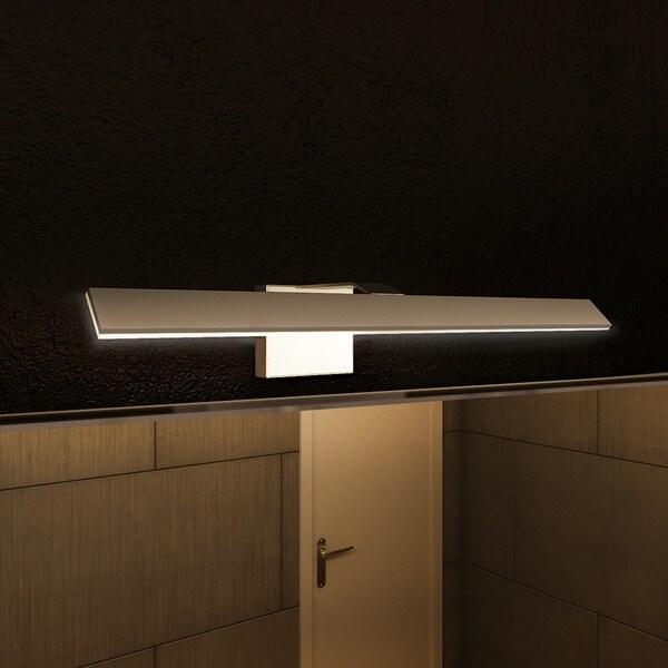 Bathroom Light Fixtures Overstock vonn lighting vmw11400al wezen 21-inch led satin nickel indirect
