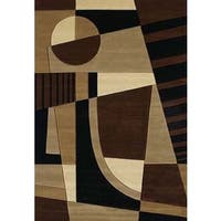 Contours Urban Angles Toffee Accent Rug - 2'7 x 4'