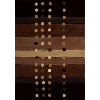 "Contours Cascades Chocolate Runner Rug (2'7"" X 7'4"")"