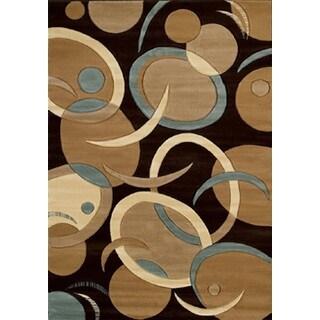 "Contours Tango Chocolate Runner Rug (2'7"" X 7'4"")"