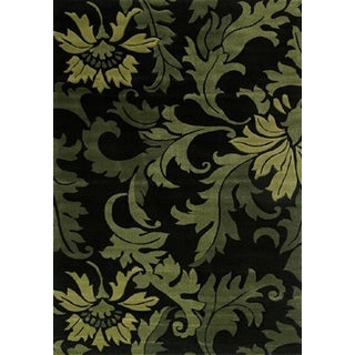 Contours Orleans Green Accent Rug (1'10 x 3')