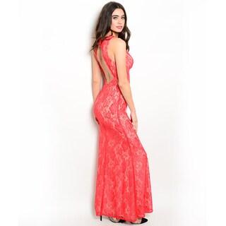 Shop the Trends Women's Sleeveless Lace Maxi Dress