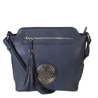 Rimen and Co. Leather Crossbody Messenger Shoulder Handbag
