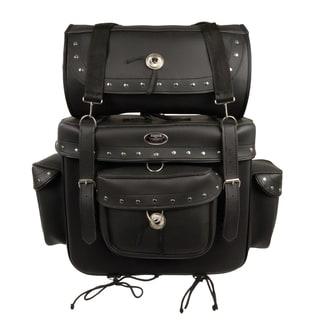 Large 2-piece PVC Studded Touring Sissy Bar Bag