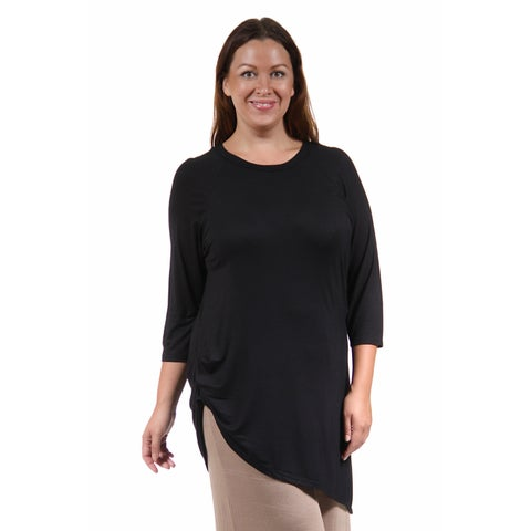 24/7 Comfort Apparel Women's Plus Size Side-Cinched Tunic