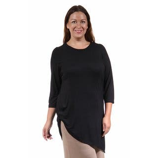 24/7 Comfort Apparel Women's Plus Size Side-Cinched Tunic|https://ak1.ostkcdn.com/images/products/10694988/P17756794.jpg?impolicy=medium