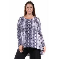 24/7 Comfort Apparel Women's Plus Size Printed Tunic