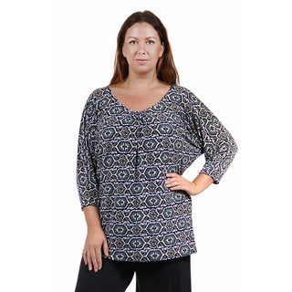 24/7 Comfort Apparel Women's Plus Size Fall Mosaic Tunic