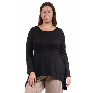 24/7 Comfort Apparel Women's Plus Size Stitch Decal High-Low Tunic|https://ak1.ostkcdn.com/images/products/10695004/P17756806.jpg?impolicy=medium
