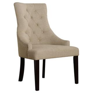 Drogo Accent Chair Cream Fabric Set of 2
