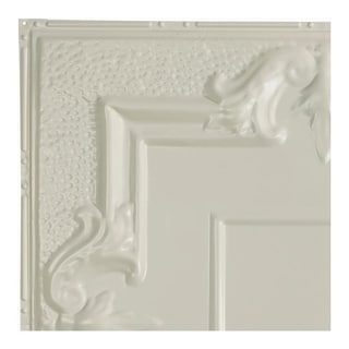 Great Lakes Tin Niagara Antique White 2-foot x 2-foot Nail-Up Ceiling Tile (Carton of 5)