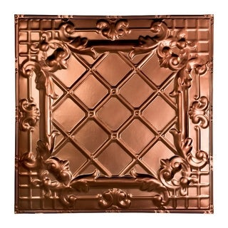 Great Lakes Tin Toledo Vintage Bronze 2-foot x 2-foot Nail-Up Ceiling Tile (Carton of 5)
