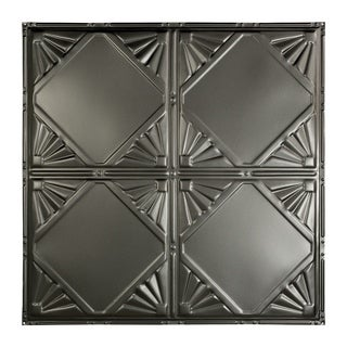 Great Lakes Tin Erie Argento 2-foot x 2-foot Nail-Up Ceiling Tile (Carton of 5)