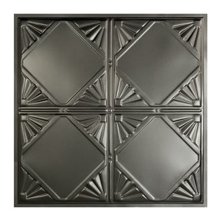 Great Lakes Tin Erie Argento 2-foot x 2-foot Lay-In Ceiling Tile (Carton of 5)