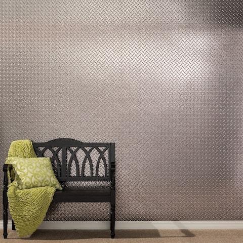 Fasade Diamond Plate Galvanized Steel 4-foot x 8-foot Wall Panel