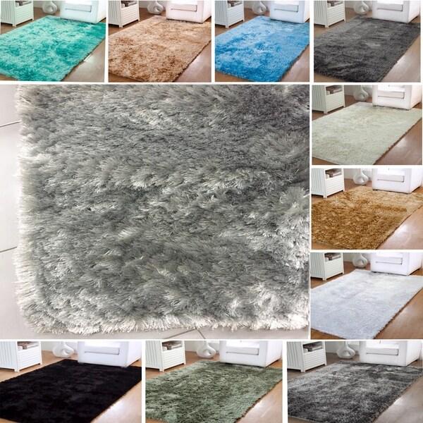 affinity home silken luxurious shag rug 5u0027 x 8u0027