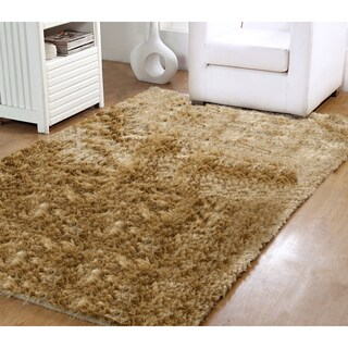 Affinity Home Hand-Woven Silken Luxurious Shag Rug (3' x 5') - 3' x 5' (Option: Taupe)