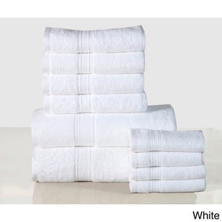 Pine Canopy Angeles Cotton 600 GSM 10-piece Towel Set (2 options available)