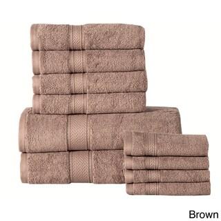Pine Canopy Angeles Cotton 600 GSM 10-piece Towel Set (Option: Brown)
