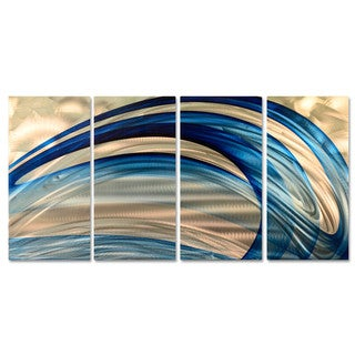 Ash Carl 'Blue Breeze' Metal Wall Art