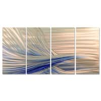 Ash Carl 'Blue Current' Metal Wall Art