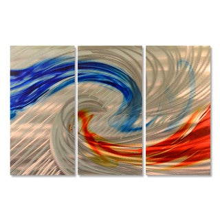 Ash Carl 'Fire and Ice' Metal Wall Art Sculpture