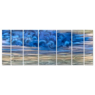 Ash Carl 'Blue Haze' Metal Wall Art