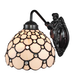 Amora Lighting Tiffany Style Jeweled Wall Sconce Lamp