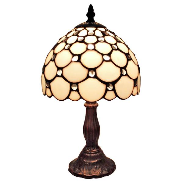 Shop Amora Lighting Tiffany Style Jeweled Mini Table Lamp Free