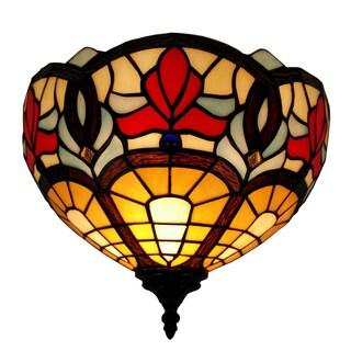 Amora Lighting Tiffany Style Victorian Design Wall Sconce Lamp
