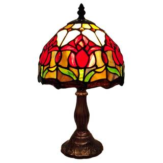 Amora Lighting Tiffany Style Tulips Mini Table Lamp