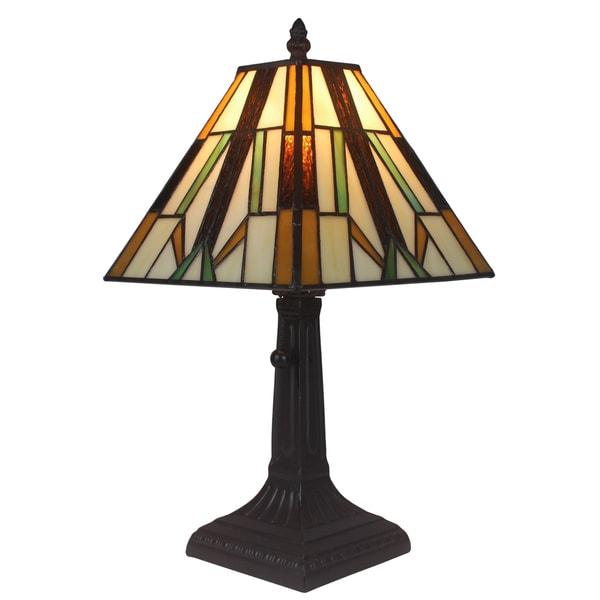 Shop Amora Lighting Tiffany Style Mission Mini Table Lamp