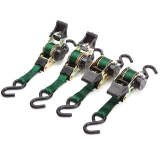 SmartStraps 6' 1500-pound Retractable Ratchet Pack of 4 Green