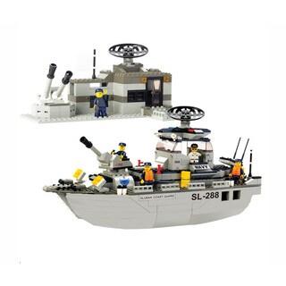 Sluban Interlocking Bricks Navy Frigate M38-B0122