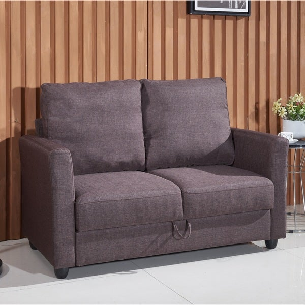 Adia Modern Fabric Loveseat With Storage   Free Shipping Today    Overstock.com   17757007