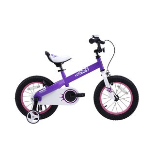 RoyalBaby Honey Kids Bicycle with Training Wheels, Boy's Bikes and Girl's Bike, Gift for kids, Red and Lilac