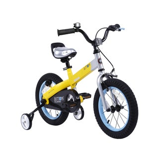 Royalbaby Matte Buttons Kids' Bike with Training Wheels Perfect Gift for Kids. 12 Inch wheels, in 4 colors