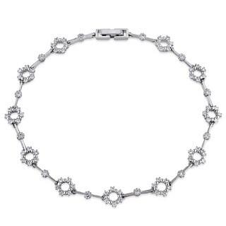 Miadora Signature Collection 18k White Gold 5/8ct TDW Diamond Link Bracelet