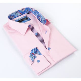 Dolce Guava Men's Pink Button Down Shirt https://ak1.ostkcdn.com/images/products/10695300/P17757068.jpg?impolicy=medium