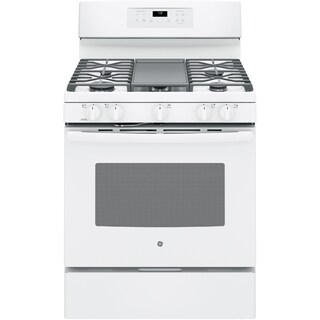 GE Black 30-inch Free-Standing Gas Convection Range (Option: White)