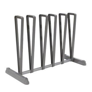 StorageManiac Standing Gray Boot Rack